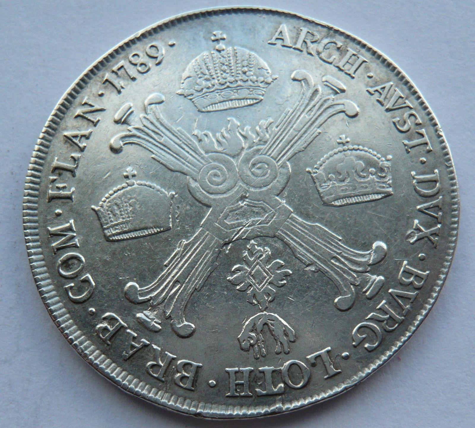 Rakousko 1/2 Tolar 1789 A Josef II.