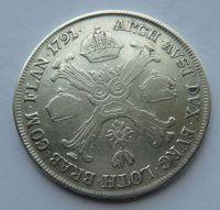 Rakousko 1/2 Tolar 1791 H Leopold II.