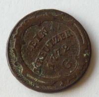 Rakousko 1 Krejcar 1772 G Marie Terezie - Günsburg