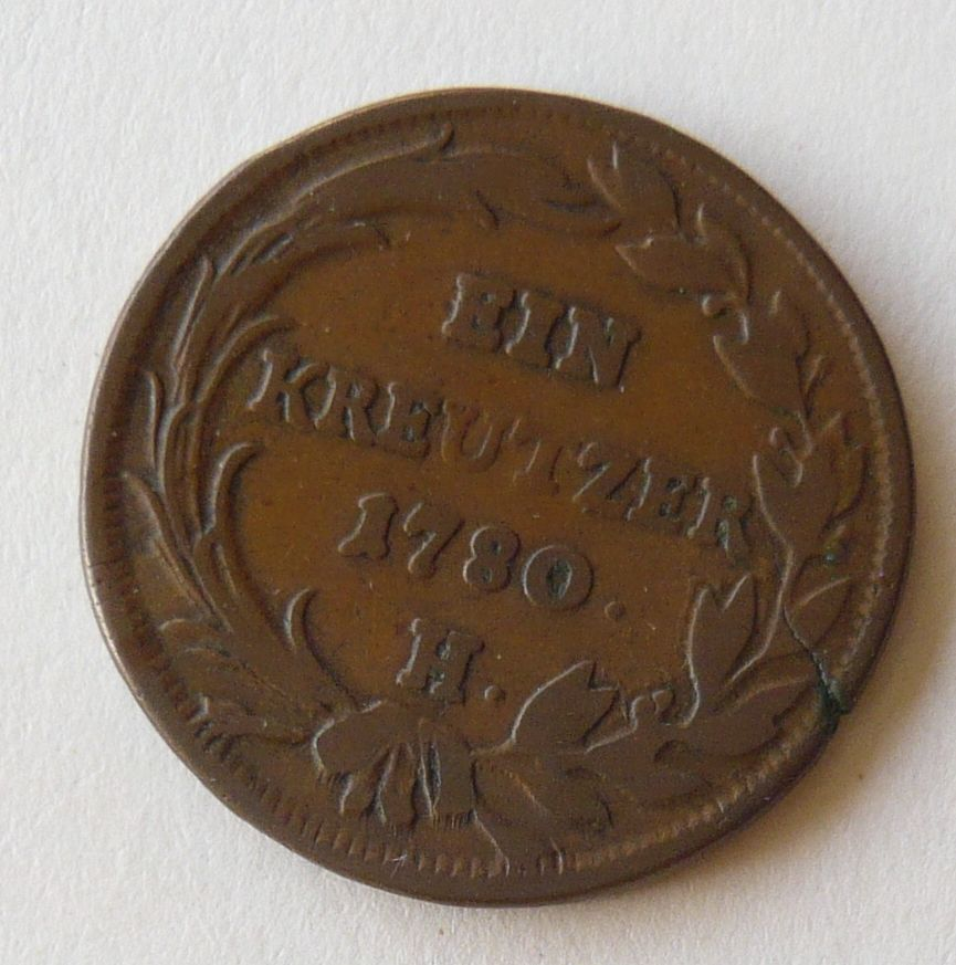 Rakousko 1 Krejcar 1780 H Marie Terezie - Karl.Běl.