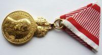 Rakousko Signum laudis Karel - zlatý stupeň, KOPIE