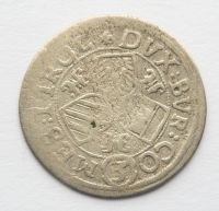 Tyroly 3 Krejcar b.l. 1625-32 arciv. Leopold