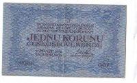 1Kč/1919/, stav 2, série 007, modrá