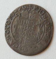 Olomouc aribiskup 3 Krejcar 1670 Karel II. Lechteinst.