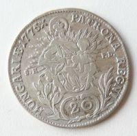 Uhry 20 Krejcar 1775 SKPD Marie Terezie