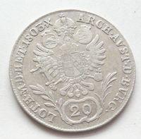 Uhry 20 Krejcar znak 1803 B František II.