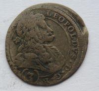 Čechy 3 Krejcar 1695 Kutná Hora - Leopold I.