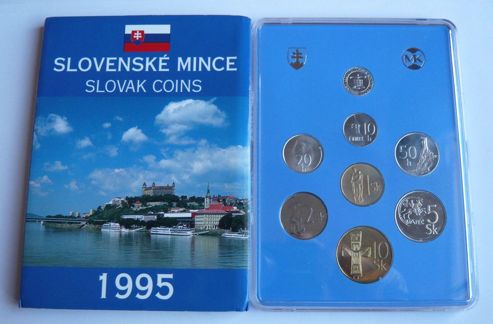 Ročníková sadad mincí SR (1995 - SNB), stav bk