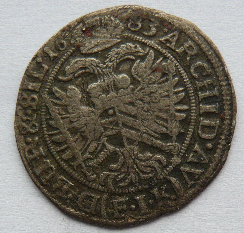 Slezsko VI. Krejcar 1683 Opolí - Leopold I.