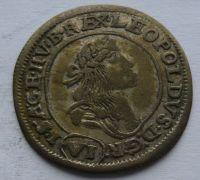 Uhry VI. Krejcar 1673 Leopold I.