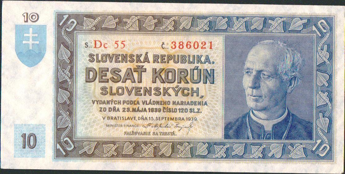 10Ks/1939/, stav 0-UNC, série Dc 55