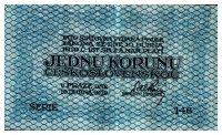 1Kč/1919/, stav 1-2, série 146, modrá