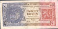 20Kč/1926/, stav 2+, série Vf