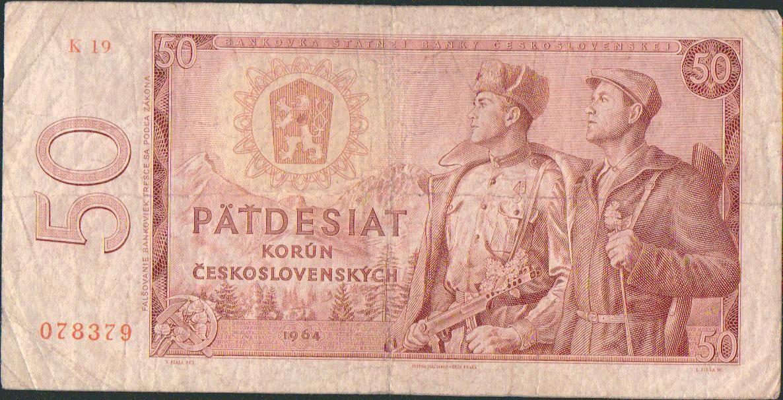 50Kčs/1964/, stav 4, série K 19