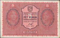 5Kč/1919/, stav 2+, série 0039