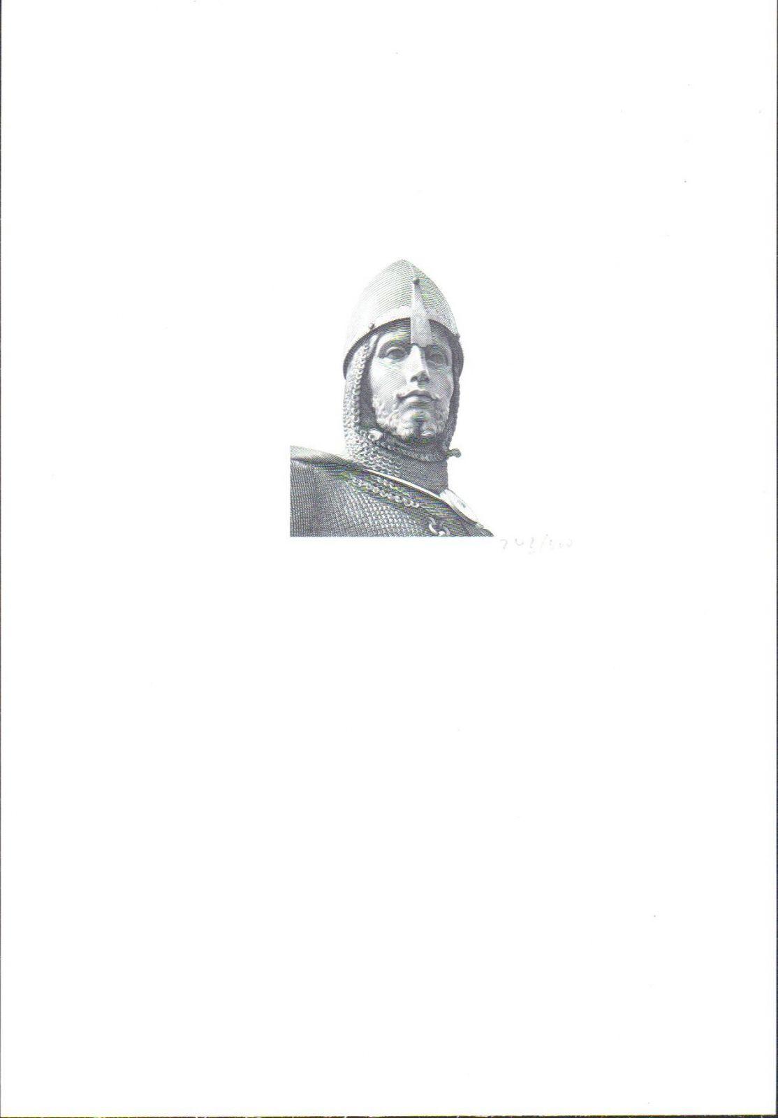Černotisk Svatý Václav (motiv protektorátní 5000K 1944), hlubotisk, stav UNC, číslo 243/300