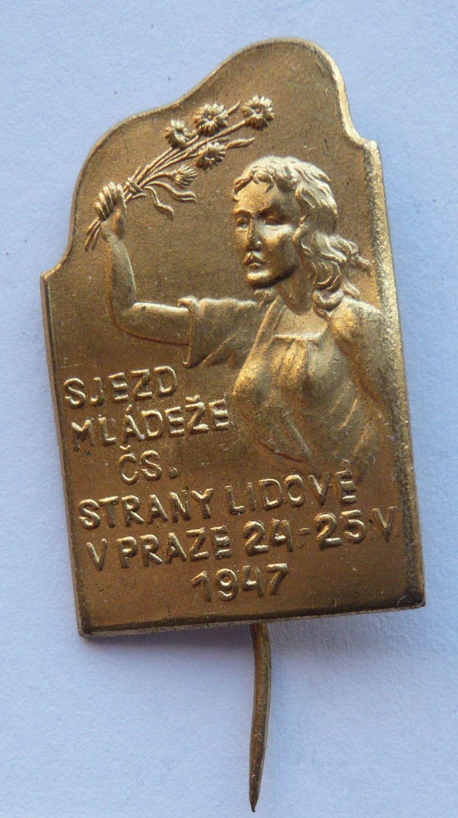 ČSR - 1947 Sjezd mládeže čs.strany lidové