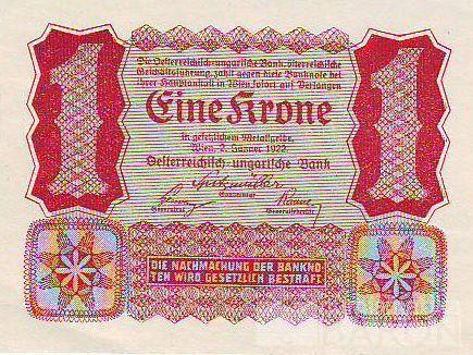 1Koruna/1922/, stav 0