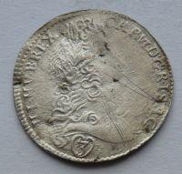 Čechy - Praha 3 Krejcar 1721 Karel VI.