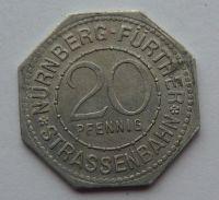 Nürnberg 20 Pf nouzovka muzeum bez let.