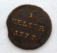 Rakousko 1 Heller 1777 Marie Terezie