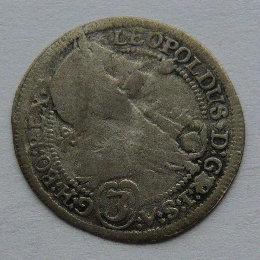 Rakousko - Gratz 3 Krejcar 1699 Leopold I.