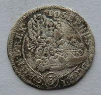 Slezsko VRATISLAV 3 Krejcar 1707 Josef I.