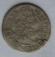 Slezsko Vratislav 3 Krejcar 1708 Josef I.