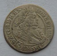 Slezsko VRATISLAV 3 Krejcar 1709 Josef I.