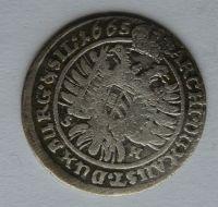 Slezsko Vratislav VI. Krejcar 1665 Leopold I.