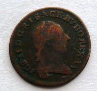 Uhry 1/4 Krejcar 1782 B Josef II.