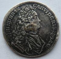Uhry Kremnica 1/2 Tolar 1713 Karel VI.