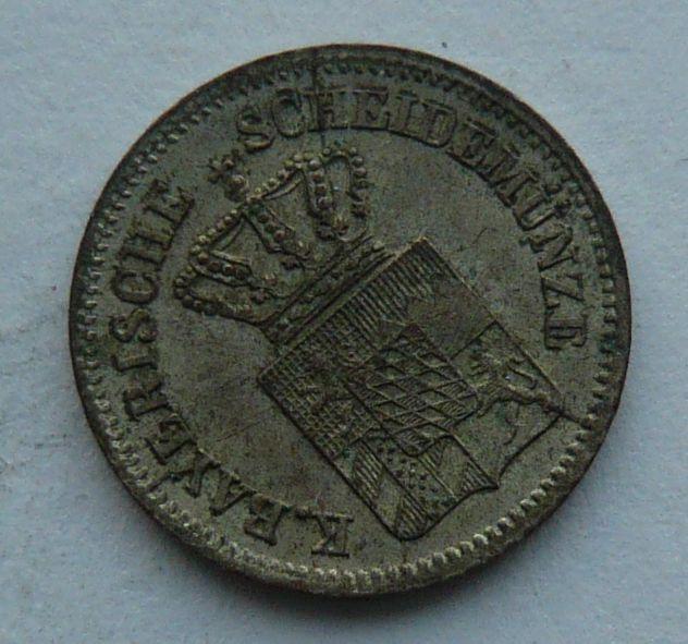 Bavorsko 1 Krejcar 1863
