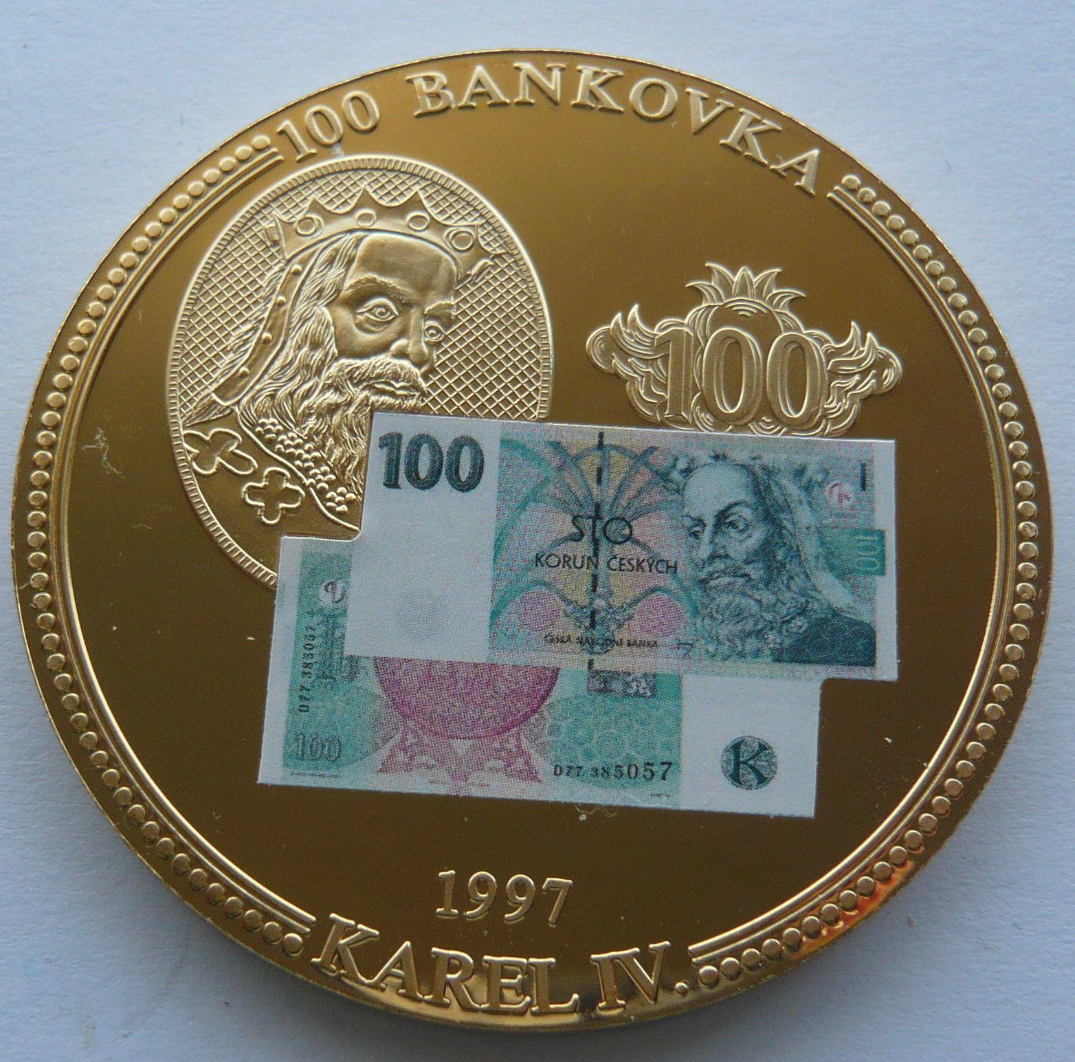ČR 100 Kcs 1997 Karel IV.