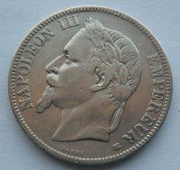 Francie 5 Frank 1868 Napoleon III.
