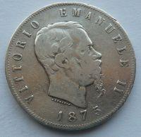 Itálie 5 Lir 1875 Vik. Emanuel