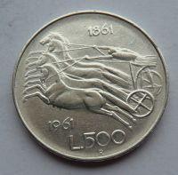 Itálie 500 Lir 1958