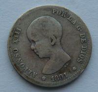 Portugalsko 1 Peseta 1891