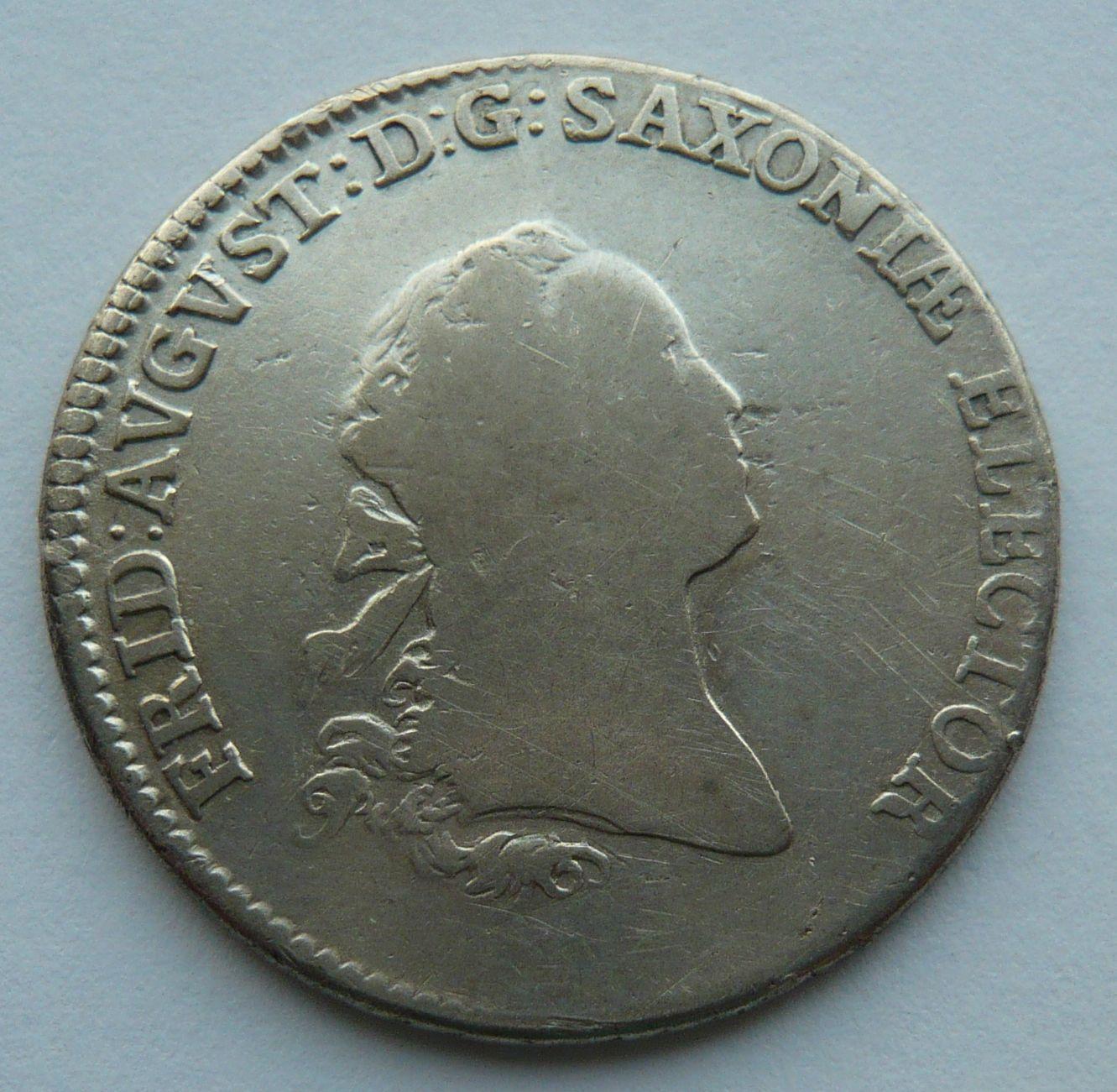 Sasko Friedrich August 2/3 Tolaru 1764 EDC