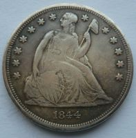 USA 1 Dollar 1844 KOPIE