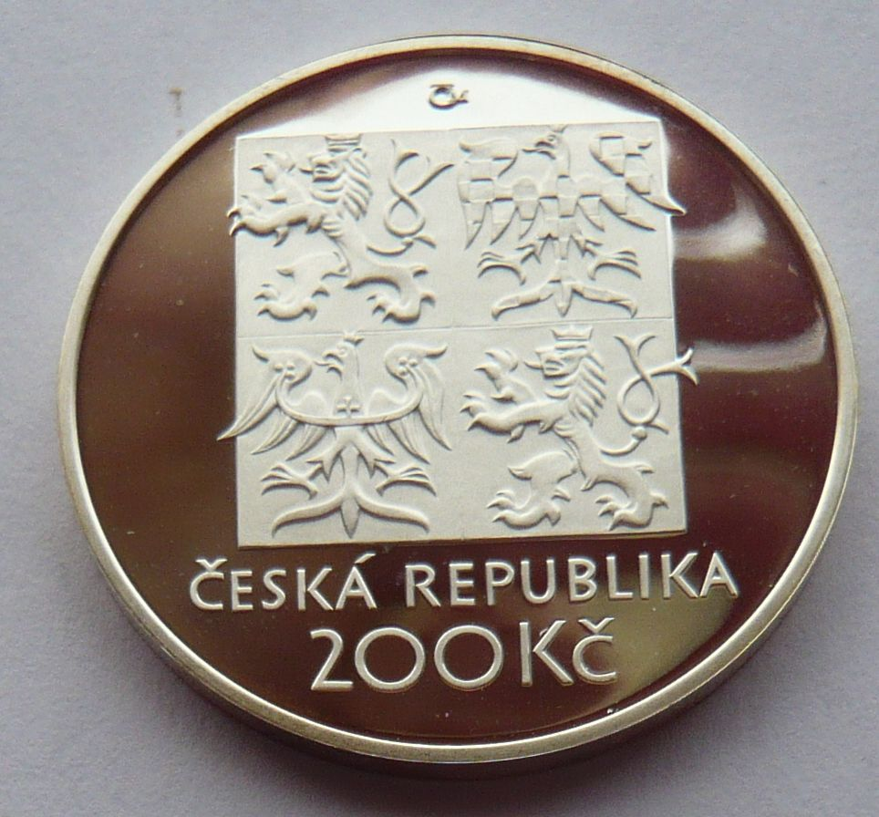 200 Kč(2002-Nezval), stav PROOF, etue a certifikát