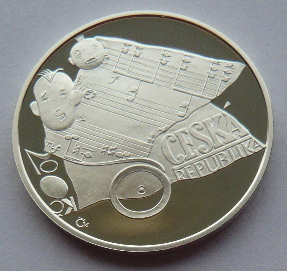 200 Kč(2006-Ježek), stav PROOF, etue a certifikát