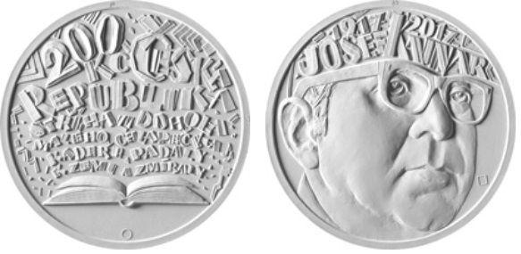200 Kč(2017-Josef Kainar), stav bk, certifikát, kapsle