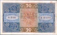 20Kč/1919/, stav 2- opr., série P 228