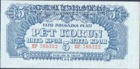 5K/1944/, stav UNC perf. SPECIMEN, série EP, podtisk vodorovný