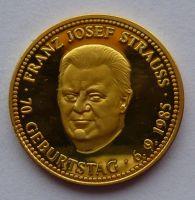 Německo Au medaile F.J.Strauss (Au 535, 4,05g)
