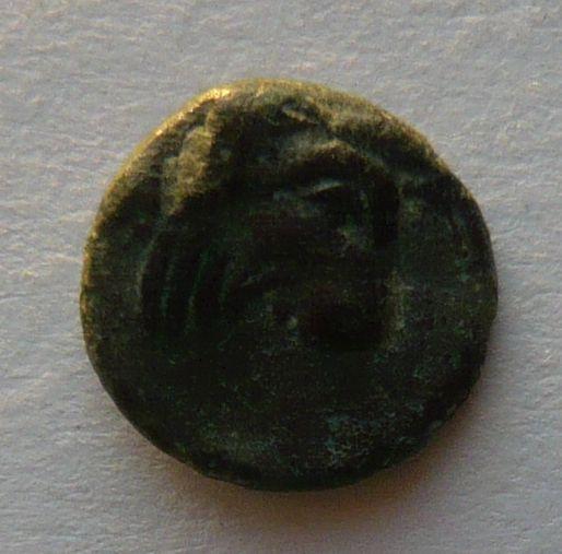 Řecko Lebos AE 10 2.stol.př.n.l. hlava Apolla hlava býka