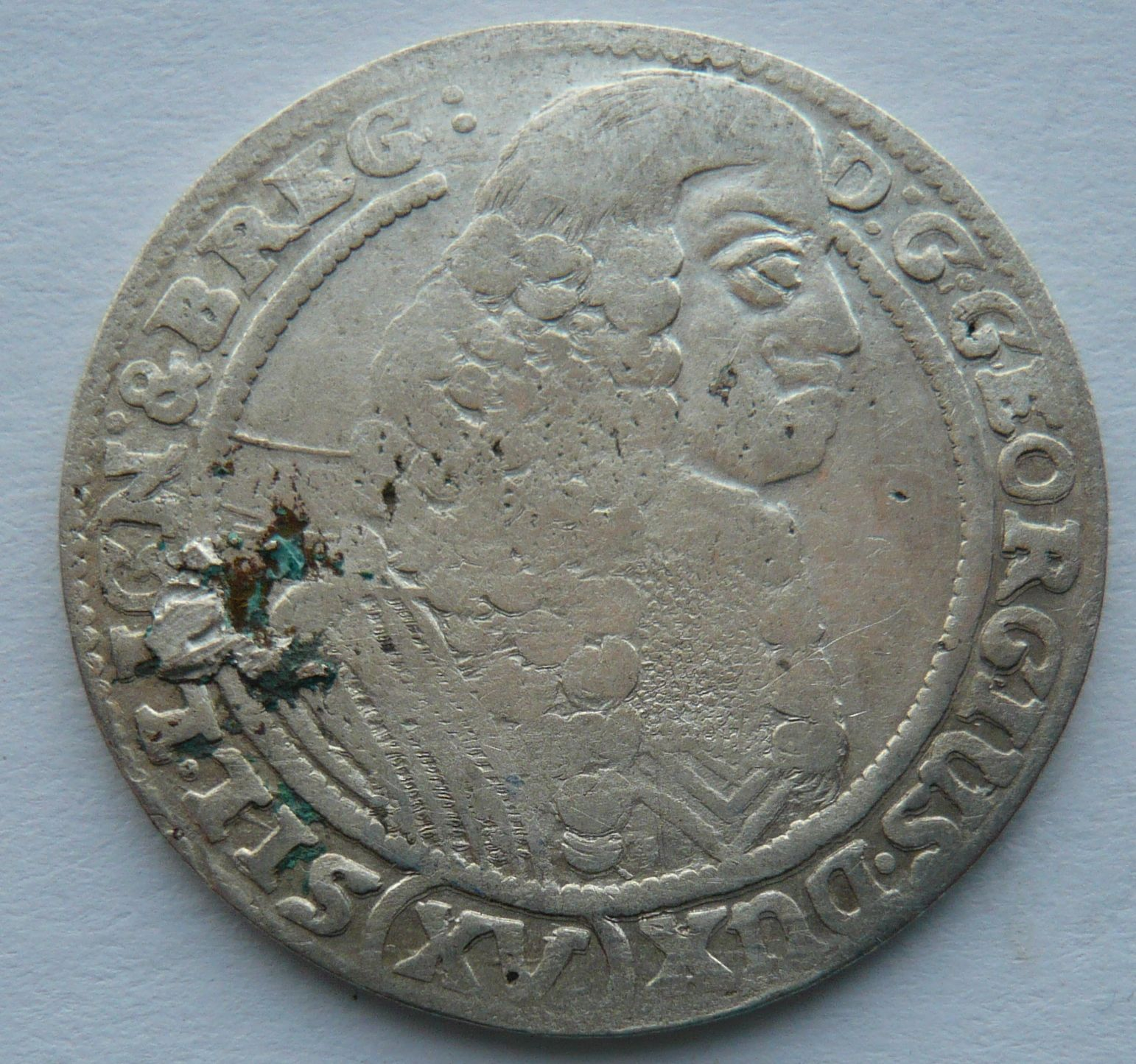 Slezsko XV. Krejcar 1662 Georg