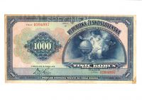 1000Kč/1919/, stav 2+ perf. SPECIMEN o., série E
