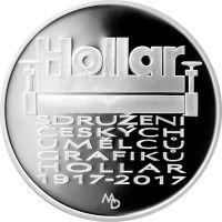 200 Kč(2017-Sdružení Hollar), stav PROOF, certifikát, etue